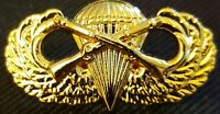 Airborne Infantry Jump Wing Badge US Army Military Parachute Rifles Pin GOLDEN