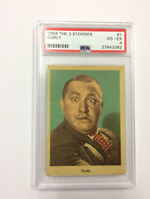1959 Three Stooges Curly PSA 4 Very Good-Excellent Card # 1