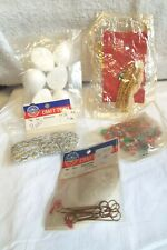 Vintage mixed lot of Christmas Craft Trims/Misc.