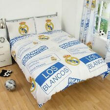 REAL MADRID  FC  DOUBLE  DOONA DUVET QUILT COVER, FOOTBALL PATCH, LICENSED NEW
