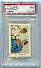 1978 Swedish Samlarsaker 32 Cassius Clay Muhammad Ali & Superman PSA 9 Mint card