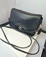 VINTAGE COACH black leather shoulder bag