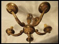 LUSTRE LUCIEN GAU PARIS BRONZE VERITABLE 5 BRAS ANNEES 60/70 CHANDELIER lamp