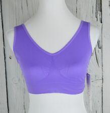 Rhonda Shear Women Seamless Leisure Bra Full Coverage Pull-on Dahlia Purple XL