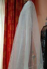 Velo Sposa Nuovo Lungo con bordi rigidi , tulle bianco, 3 metri