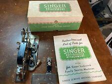 Vintage Singer Buttonhole Attachment #121795 w Manual In Original Box