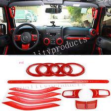1 Set Steering Wheel Trim Interior Car Door Handle Cover For Jeep Wrangler JK