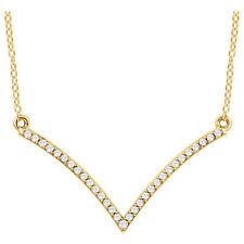 Diamante V 45.7cm Collar en 14k ORO AMARILLO ( 1/6 Ct. TW