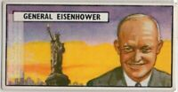 "President Dwight David ""Ike"" Eisenhower WWII Vintage Trade Ad Card"