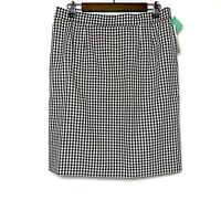 NEW VINTAGE FIVE TO NINE BLACK AND WHITE GINGHAM CHECK SKIRT SIZE 16 ELASTIC