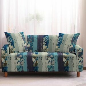 Pinstripe Furniture Covers Sofa 3 Seater Stretch Covers Cushion Slipcover Hot