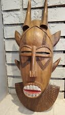 Vintage Wooden Mask Wall Decor, Tribal Art
