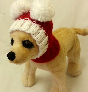 Pet Clothes Apparel Handmade Knit Outfit Hoody Snow- Hat for Small Dog XXS XS S