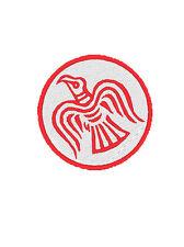 Ecusson patch SOLDAT D ODIN VIKING RAVEN BIKER patch brodé rouge