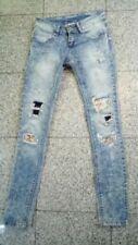 Hosengröße XS Damen-Jeans im Boyfriend-Stil mit Strass