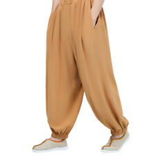 Linen Kungfu Tai Chi Pants Trousers Loose Martial Arts Shaolin Trousers Bloomers
