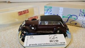 RIO 1:43 1938 GRANDE MERCEDES NO. 22 BOX W/CASE INDEPENDENT SPRING SUSPENSION