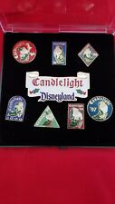 Disney Cast Candlelight Disneyland Le Pin Set w/Seven Dwarfs, Euc 2000