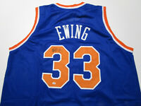 PATRICK EWING / NBA HALL OF FAME / AUTOGRAPHED N.Y KNICKS CUSTOM JERSEY / COA