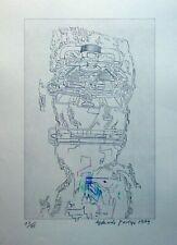 EDUARDO PAOLOZZI - machine head - customized etching -  signed/numbered - 1979