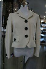 Anna Thomas Cotton Blend Eggshell Jacket Cream Colour-Size 12-New W Tag-RRP $725