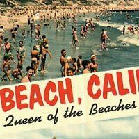Vintage Photo Post Card, Queen of the Beaches, Long Beach, California   Z-2-3