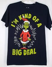 Dr Seuss Grinch Tshirt Top S I'm Kind of a Big Deal Blue Cotton