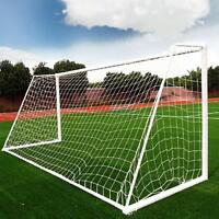 8 x 24FT Football Soccer Goal Post Nets Sport Training Practice outdoor Match