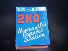 VINTAGE MATCHBOOK 2KO NEWCASTLES POPULAR STATION RADIO STATION RARE MATCH BOOK