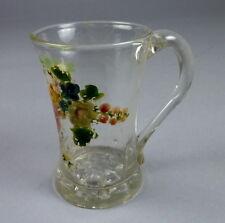 Biedermeier Glas Henkelbecher um 1820