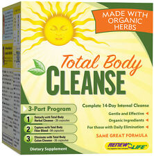 Organic Total Body Cleanse 3 Part Kit Renew Life, Colon, Liver, Kidney Detox