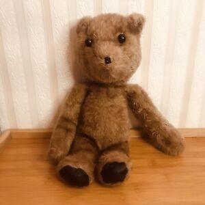 Teddy Bear Antique Milk Chocolate Brown Shoe Button Eyes Long Paws Shammy Feet?