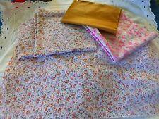 lot les fleurs roses ,patchork ,petits travaux de couture +beige offert