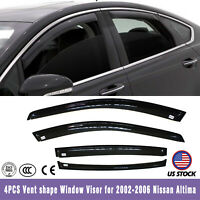 For 02-2006 Nissan Altima Reinforced Acrylic Guard 4PC Vent Shade Window Visors