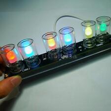 Colorful LED DIY Kit Set Chromatography Glass Clock For Electronic Enthusiast
