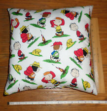 New Camp Peanuts - Peanuts Characters Camping Cotton Pillow Handmade in the Usa