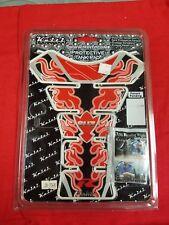 BRAND NEW KEITI SUZUKI RED FLAME TANK PAD-RED/BLACK