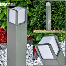 LED Außen Steh Stand Lampen Anthrazit Garten Wege Poller Laterne Beleuchtung