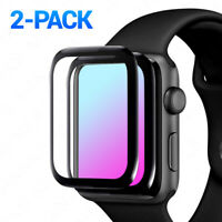 2-Pack Full Cover 3D Tempered Glass Screen Protector For Apple Watch SE 6 5 4 3