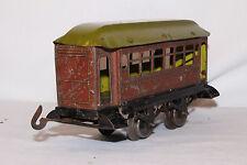 Early Tin Plate German? O Gauge Passenger Car, Original