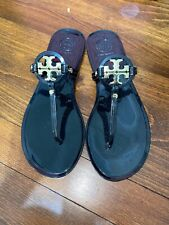 Tory Burch Mini Miller Black Flat Sandal Size 7