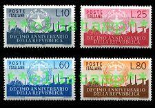 ITALIA 1956 10° Decimo Anniversario Repubblica 4v. cmpl ** LUSSO