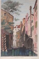 1883 Venezia acquaforte acquarellata