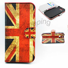 Book Flip PU Leather Card Holder Wallet Case Cover Stand For HTC ONE M8
