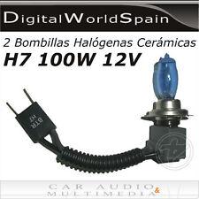 2 BOMBILLAS HALOGENAS CERAMICAS H7 100W 12V 5500K 2300LM LUZ MUY BLANCA