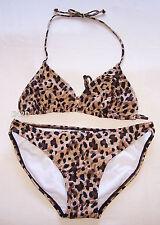 Ultimate Body Ladies Leopard Printed 2 Piece Bikini Size 8 New