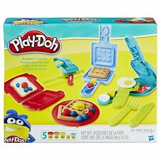 Play Doh Breakfast Time Toy Set Children Learn Pretend Cook Kitchen Fun Molds