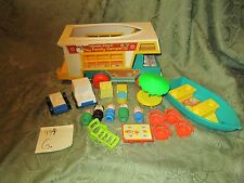 Fisher Price Little People Play Family 994 camper boat motorcycle ladder LOT F