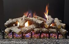 "Sierra Majestic Oak Gas Log Kit with Bi-Flo Burner - Nat. Gas 30"" Vented Gas Log"