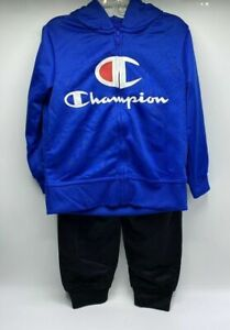 Boy's Size 18 Months 2-Piece Adorable Champion Zip-Up Hoodie Outfit New